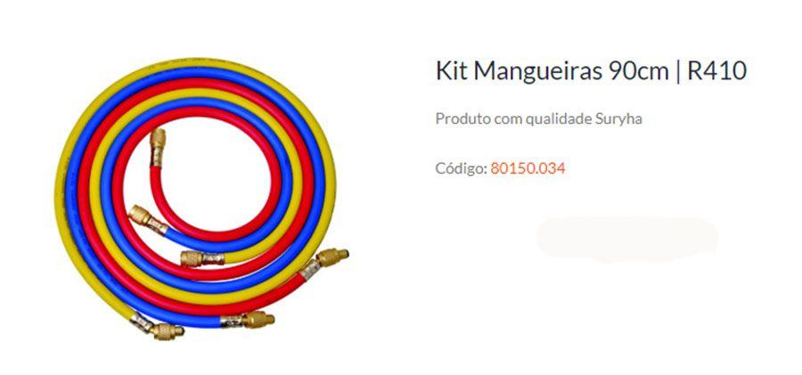 KIT MANGUEIRA MANIFOLD 150CM Para R410 SURYHA 80150.034