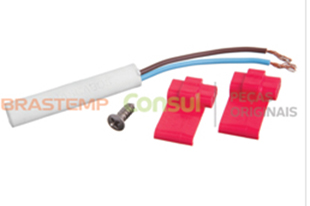Kit Sensor Temperatura 2,7 K Geladeira Brastemp e Consul Original W10696875