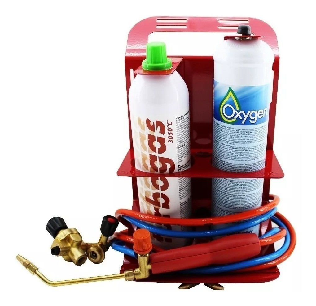 Kit Turbo Set 90 Oxy Turbo Portatil com Turbogas e Oxigênio.