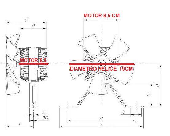 Micromotor Exaustor 1/40 C/ Suporte e Hélice Plástica Biv. DuGold/ELGIN  MD11