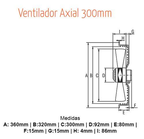Motor Ventilador Exaustor Axial 300mm  220 Volts Vix  YWF4E-300S