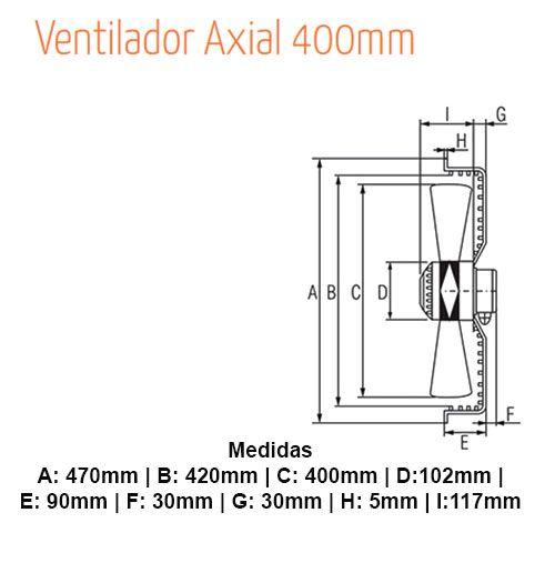MOTOR VENTILADOR EXAUSTOR AXIAL 400MM  220V  MODELO YWF4E-400S