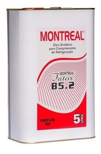 Óleo Sintético Montreal Fator B5.2 Lata 05 Litro