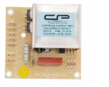 Placa Eletrônica Controle Reversão Lavadora Brastemp e Consul Bivolt CP Eletrônica 167