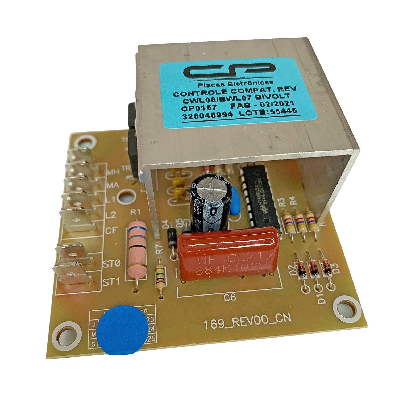 Placa Eletrônica Controle Reversão Lavadora Brastemp e Consul CP Eletrônica 167