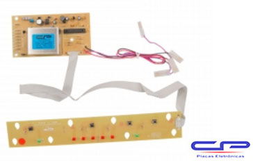 Placa Eletrônica lavadora Brastemp BWC06A/ BWM08 Smart Turbo 8kg bivolt CP Eletrônica 136