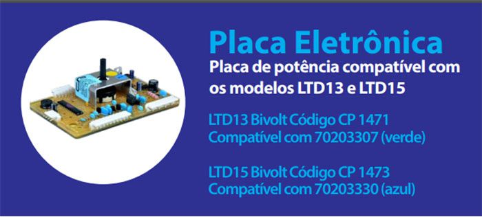 Placa Eletrônica Potência Lavadora Electrolux CP Eletrônica 1473