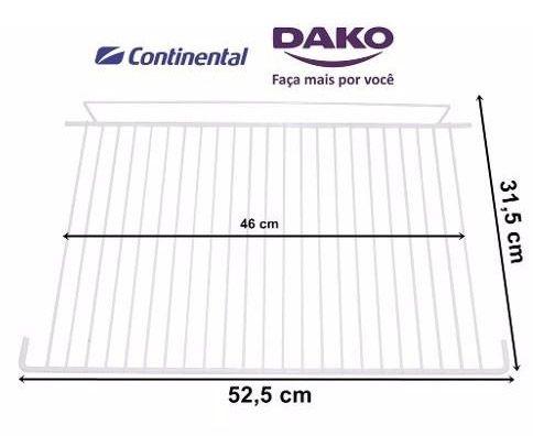 Prateleira Aramada Refrigerador Dako/Continental 4.5x52x31cm Grade - 225D5394P001