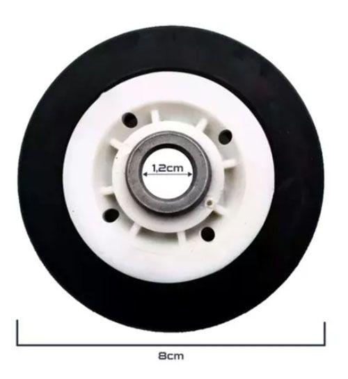 Roldana P/tambor Secadora de Roupas Brastemp Original 326015418 - Por unidade.