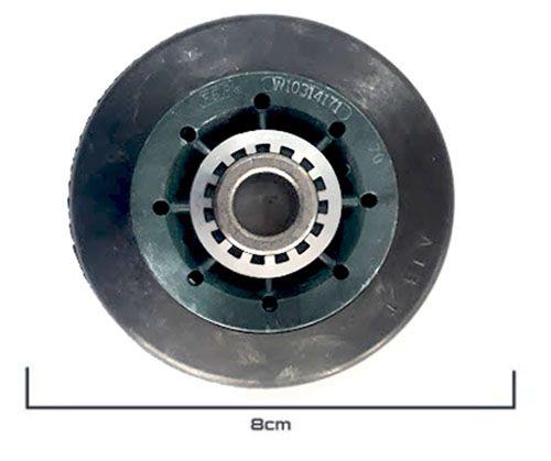 Roldana P/tambor Secadora de Roupas Brastemp Original W10314171 - Por unidade.