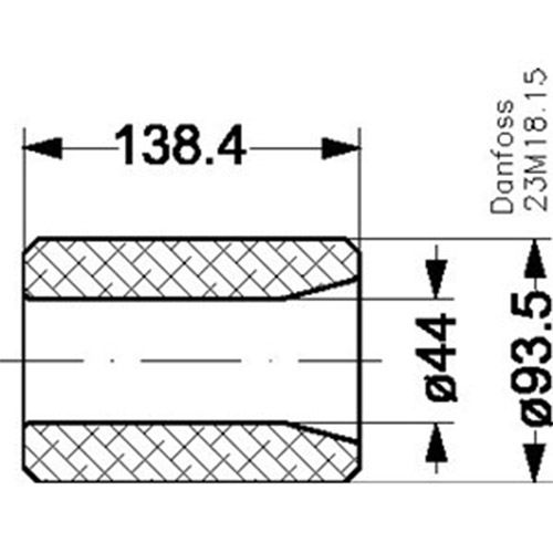 Secador de filtro núcleo, 48-DA Danfoss 023U5381