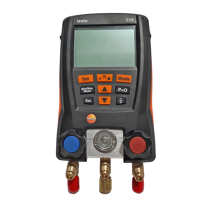 Testo 550 Kit Manometro digital com mangueira com bluetooth e 2 sondas