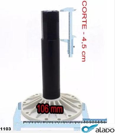 Tubo Lavadora GE/DK/MB 10/11/12 Kg Alado 7171103