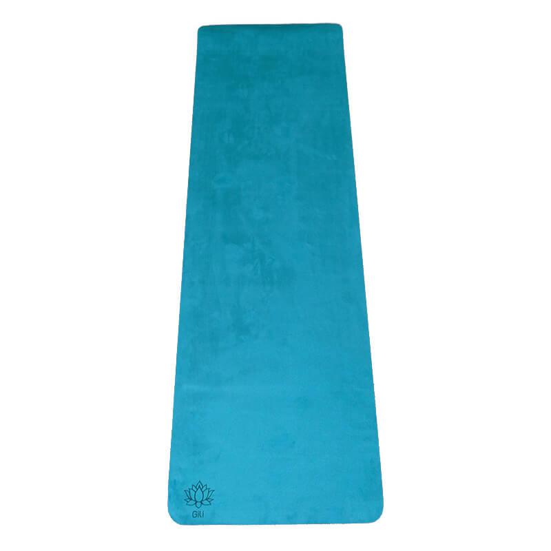 Tapete Yoga Aveludado Liso Esmeralda