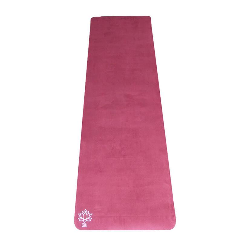 Tapete Yoga Aveludado Liso Vinho