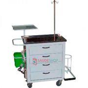 Carro de Emergência Completo - Tampo Inox B 4001- Bio MN