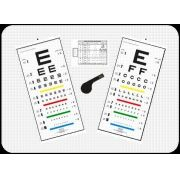 Conjunto de Tabelas de Óptotipos Mod. Snellen para Leitura Direta à Distância de 6 metros - Ref. 00300544 - RZ