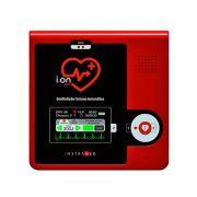 Desfibrilador Externo Automático - DEA - Mod. I.ON LCD  com a opção bateria recarregável om  Bateria Recarregável – Instramed