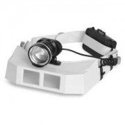 Lupa de Cabeça com 3 lentes Power LED - ML