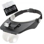 Lupa de Cabeça com LED e 4 lentes - ML
