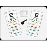 Conjunto de Tabelas de Óptotipos Mod. Snellen para Leitura Direta à Distância de 3 metros - Ref. 300357 - RZ