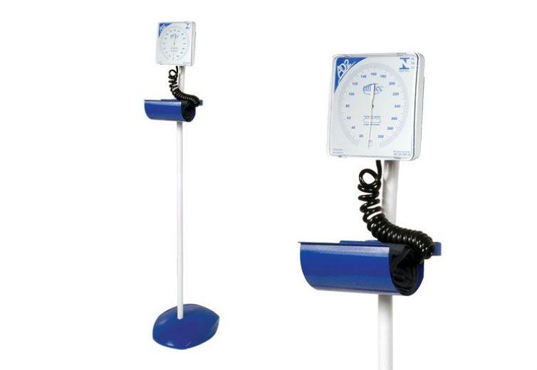 Aparelho de Pressão Arterial Aneróide - Mod. AD-2 Sobre Rodízio (Pedestal) -Unitec