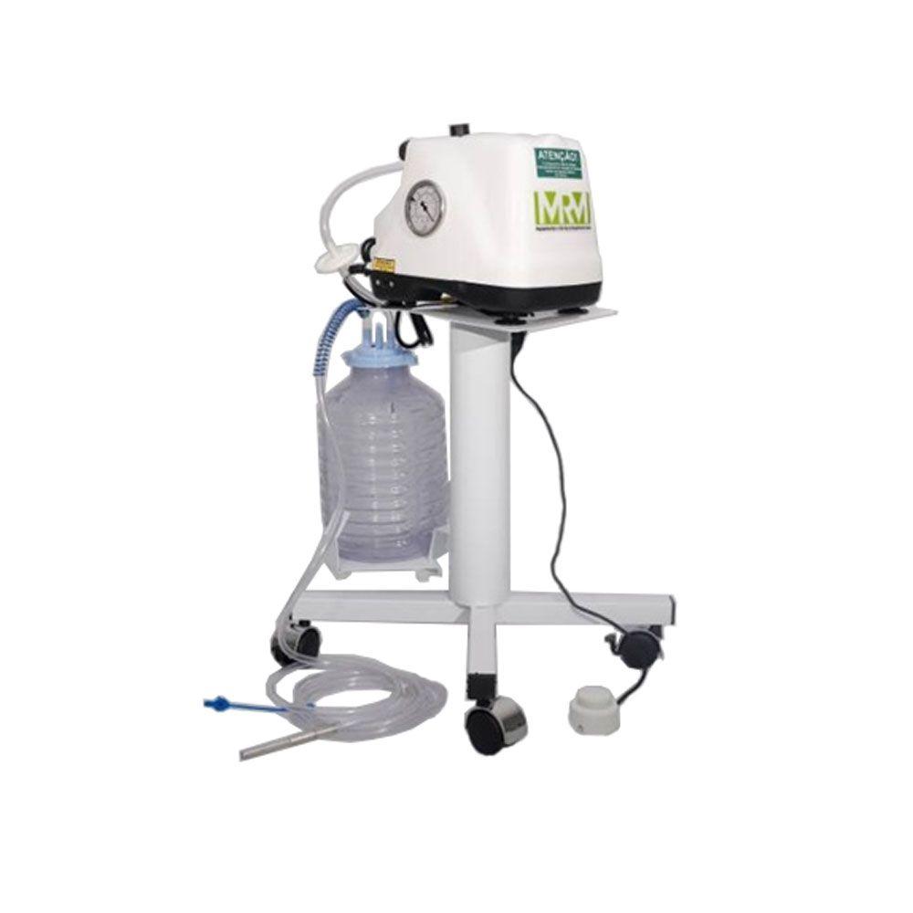 Aspirador Cirúrgico 5 litros frasco em polivinil com Carro - Mod. MRM-300C - Aspiravida