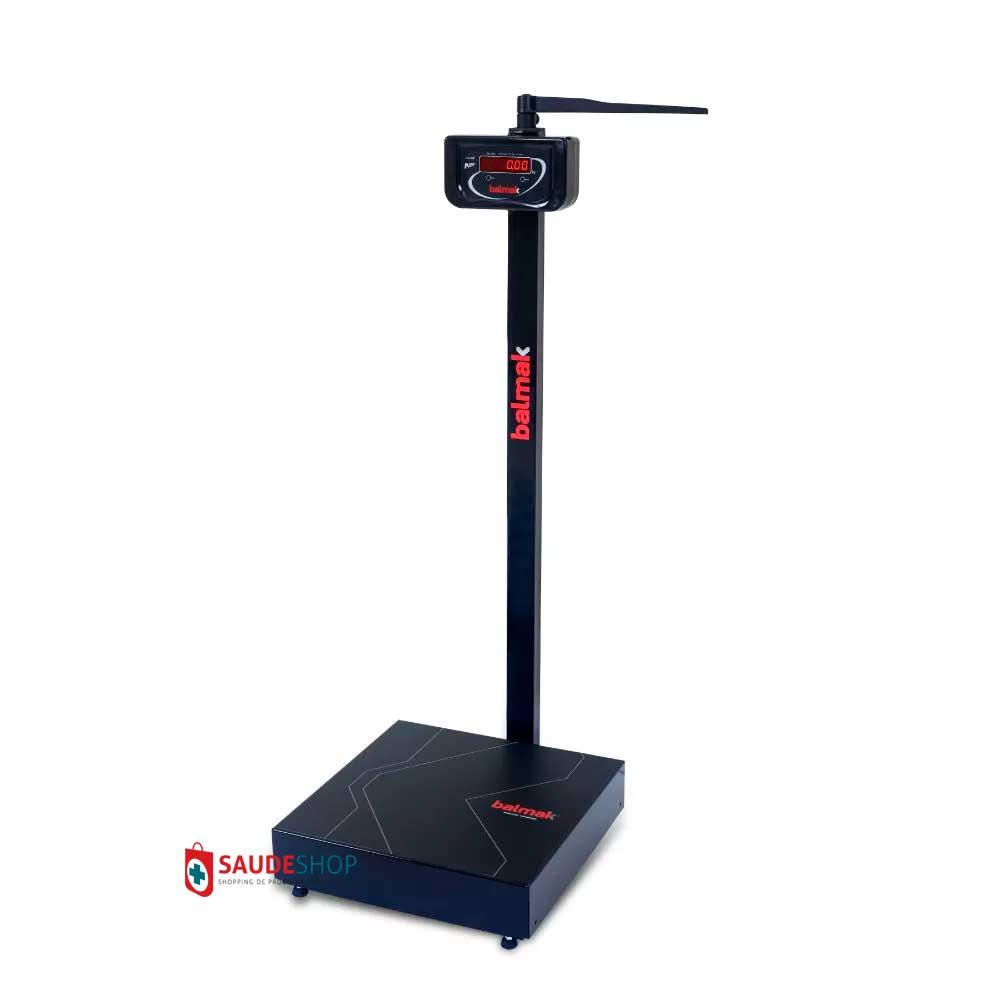 Balança Antropometrica Digital 300 Kg para pesar e medir pessoas Mod. New BK - 300FAN - Balmak