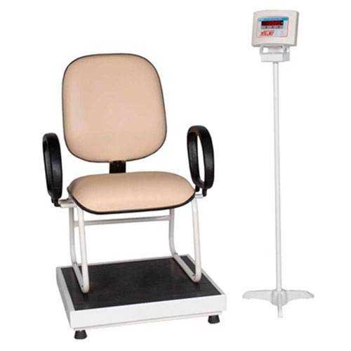 Balança Digital 300 kg com Cadeira para o Paciente - Mod. W-300 Confort - Welmy