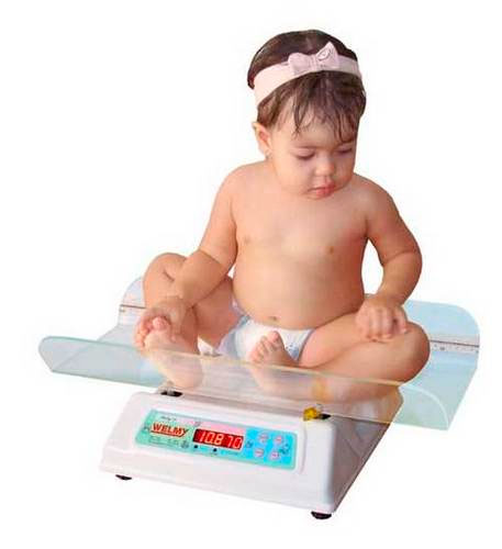 Balança Digital Pediátrica até 30 kg Concha em Acrilico Transparente com regua de 55cm adesivada Baby-30- Welmy