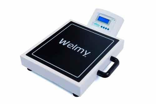 Balança Eletrônica Digital Portátil - LCD - capacidade 200 Kg com alça para transporte Mod.W-200 M - Welmy