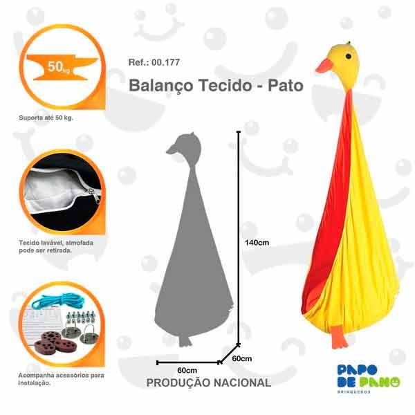 Balanço Tecido - Pato - Ref. 00177 - Papo de Pano