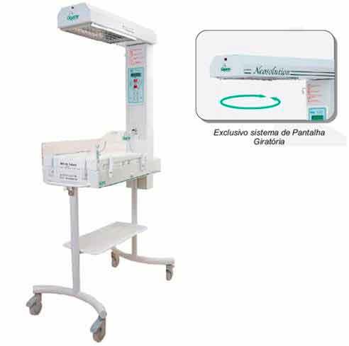 Berço Aquecido Neonatal GRN - Modelo NEOSOLUTION Básico  - Gigante