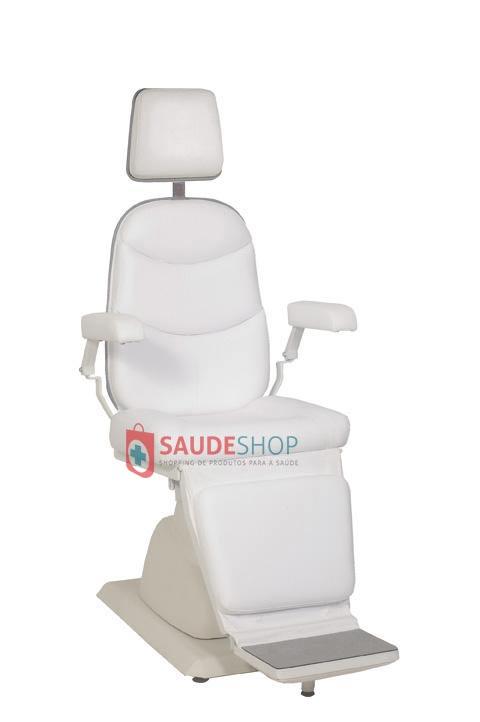 Cadeira para Exame de Oftalmologia Mod. EL-04A reclina encosto elétrico COM RODA  - Xenônio
