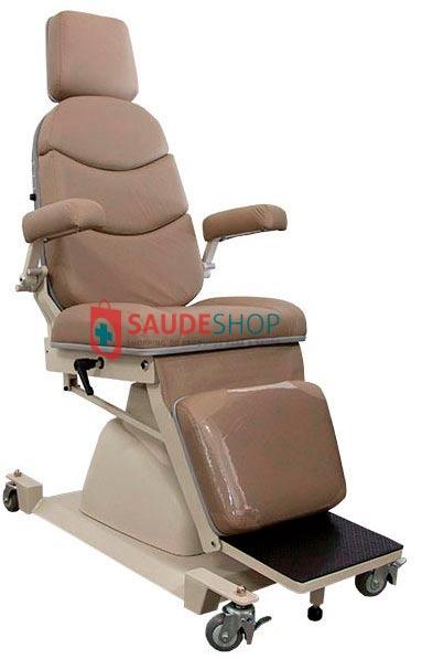 Cadeira para Exame de Oftalmologia Mod. EL-04A reclina encosto manual COM RODA Xenônio