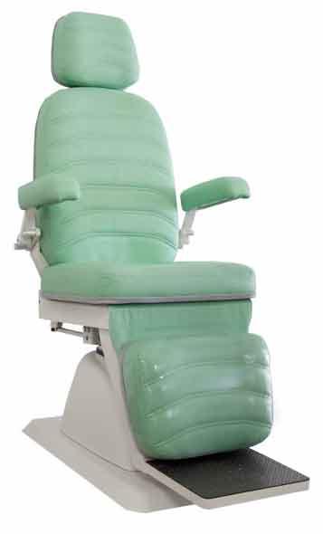 Cadeira para Exame de Oftalmologia Mod. EL-04B reclina encosto elétrico COM RODA - Xenônio