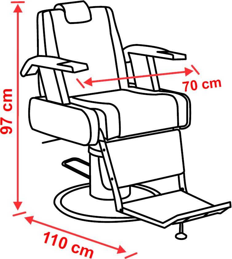 Cadeira Para Barbeiro New Arezzo Cód: 4167- Ferrante