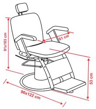 Cadeira Para Barbeiro Razor Cód. 6164 - Ferrante