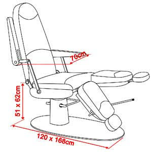 Cadeira Para Podologia Master CÓD: 13945 M -  Ferrante