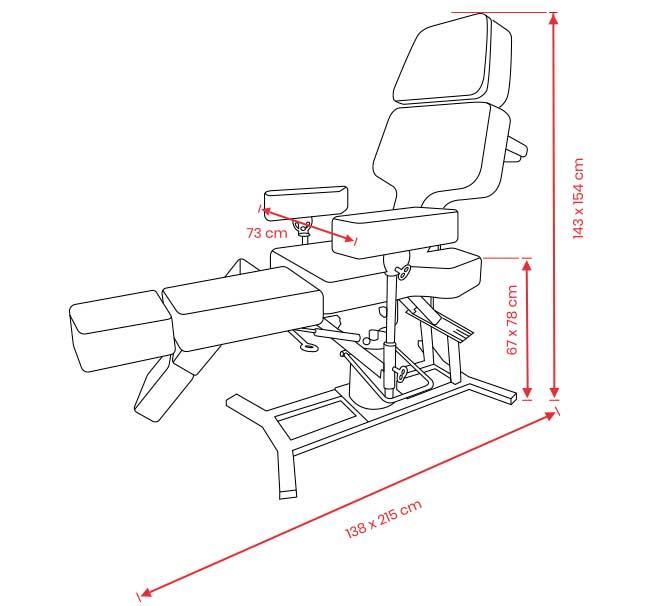 Cadeira Para Tatuagem Transform Cód 700 T - Ferrante