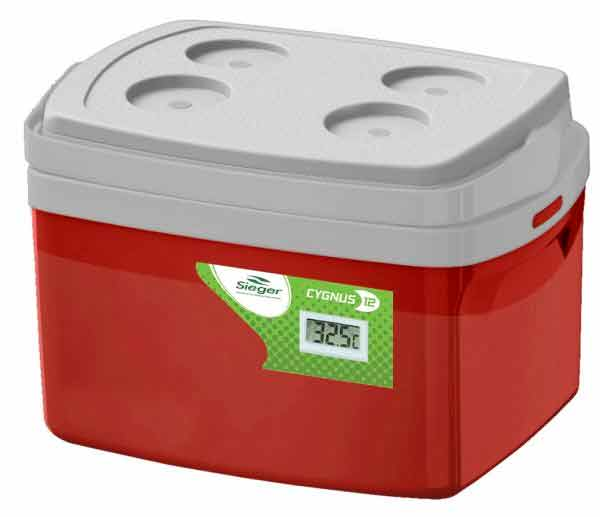 Caixa Térmica 12 litros com Termômetro -  Cygnus