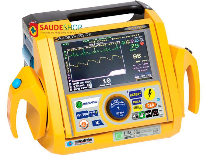 Cardioversor Bifásico Mod.VIVO com Oximetria - CMOS Drake