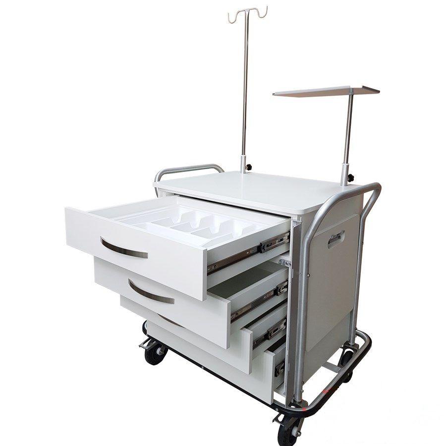 Carro Auxiliar para Sala de Ressonância Magnética  Mod. MA050 - Marca CDF