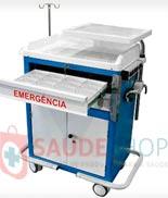 Carro de Emergência 02 Gavetas e 01 Armário – AS - Mod.BKCE 005 - Marca BK