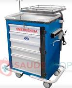 Carro de Emergência com 5 Gavetas AS - Mod.BKCE 004 - Marca BK