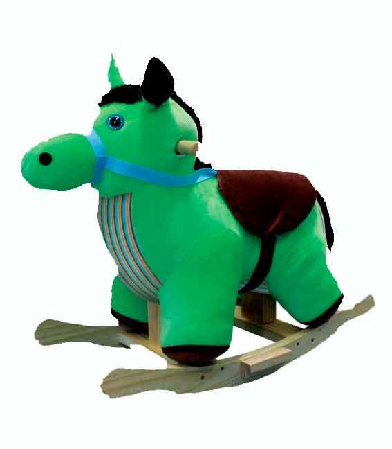 Cavalo De Balanço Tecido - Ref.00700 - Papo De Pano