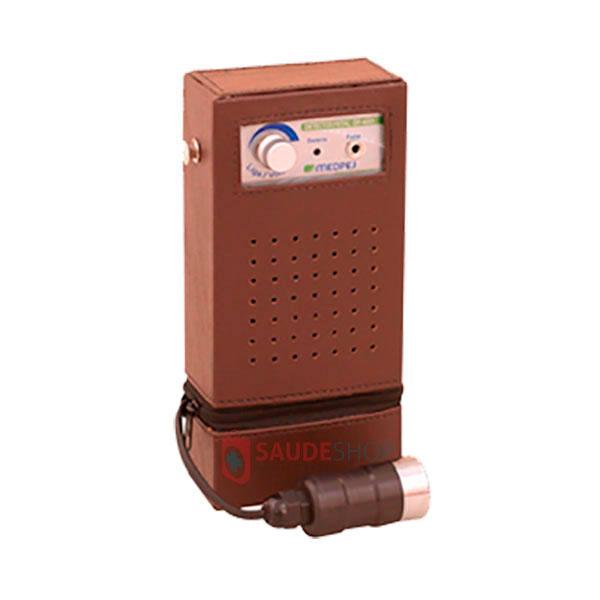 Detector Fetal Portátil com Bolsa de Couro Alimentação com 2 baterias 9 volts Mod. DF 7001 B - Medpej