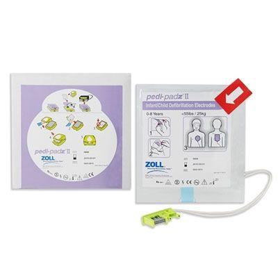 Pás Adesivas / Eletrodos p/ DEA (AED Plus) Multifunção Infantil Pedi-Padz-II - Zoll