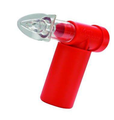 Exercitador e Incentivador Respiratório PowerBreath Classic - Resitência Pesada  Heavy Resistence - (HR)  - Vermelho