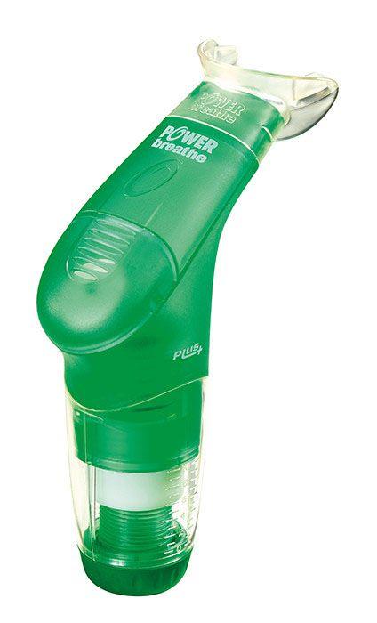 Exercitador e Incentivador Respiratório PowerBreath  PLUS -  Resistência Leve - RL - Verde